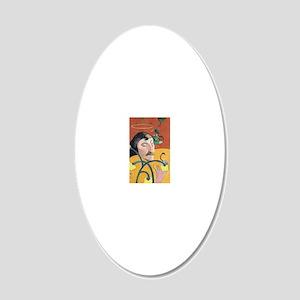 Paul Gauguin, Self Portrait  20x12 Oval Wall Decal