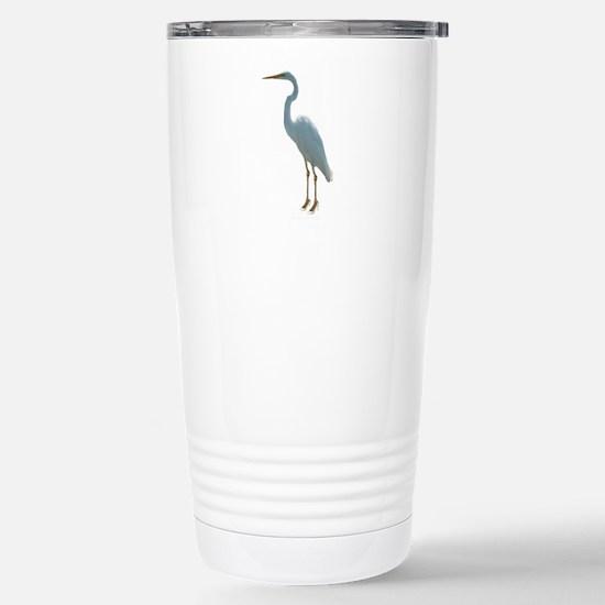 Great White Heron Stainless Steel Travel Mug