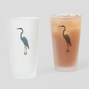 Great White Heron Drinking Glass