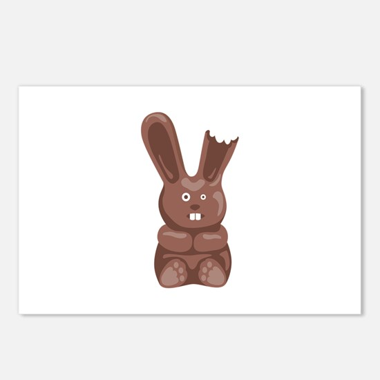 Chocolate Easter Bunny Postcards (Package of 8)