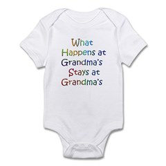 What Happens / Stays At Grandma's Infant Bodysuit