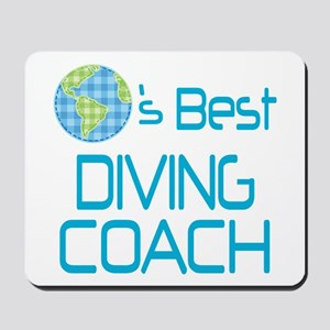 Earths Best Diving Coach Mousepad