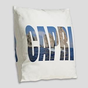Capri Burlap Throw Pillow