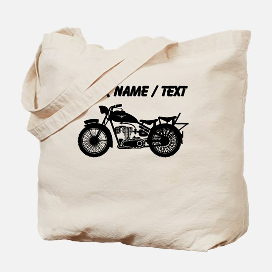 Custom Vintage Motorcycle Tote Bag