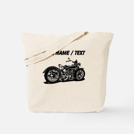 Custom Vintage Motorcycle Tote Bag