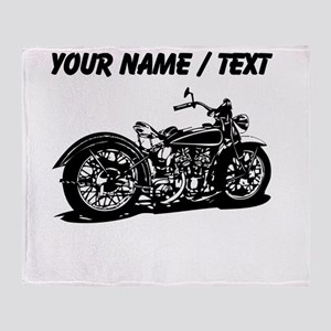Custom Vintage Motorcycle Throw Blanket