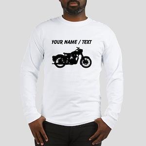 Custom Vintage Motorcycle Silhouette Long Sleeve T