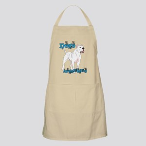 Dogo Argentino Blue Letters Apron