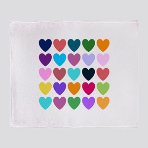 Hearts of All Kinds Throw Blanket