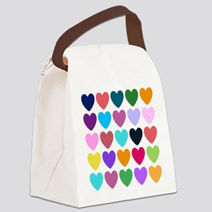 Hearts of All Kinds Canvas Lunch Bag