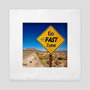 Go Fast Zone Queen Duvet