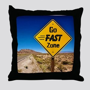 Go Fast Zone Throw Pillow