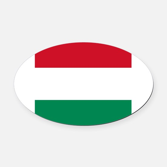 Flag of Hungary Oval Car Magnet