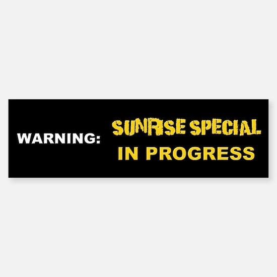 Sunrise Special Bumper Bumper Bumper Sticker