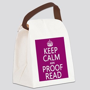 Keep Calm and Proof Read (adn) Canvas Lunch Bag