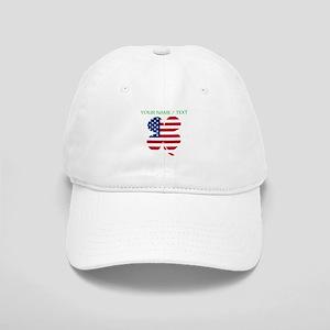 Custom American Flag Shamrock Baseball Cap