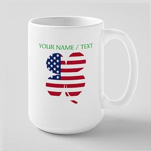 Custom American Flag Shamrock Mugs