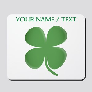 Custom Green Four Leaf Clover Mousepad
