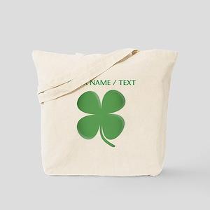 Custom Green Four Leaf Clover Tote Bag