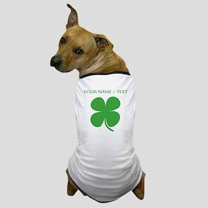 Custom Green Four Leaf Clover Dog T-Shirt