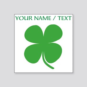 Custom Green Four Leaf Clover Sticker