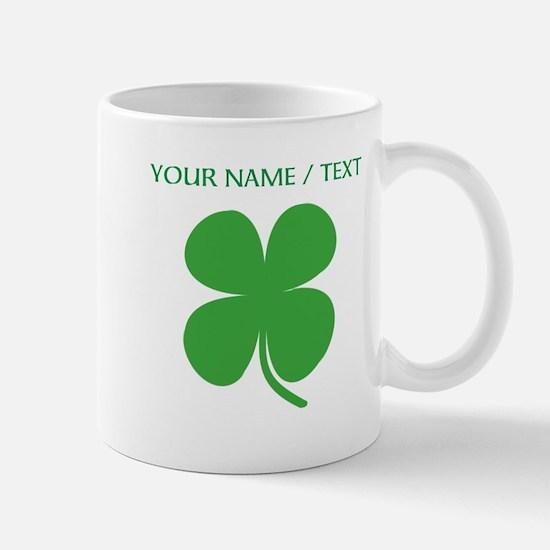 Custom Green Four Leaf Clover Mugs