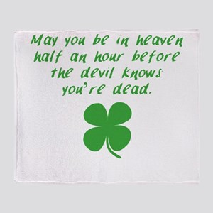 Before The Devil Knows Youre Dead Throw Blanket