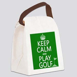 Keep Calm and Play Golf Canvas Lunch Bag