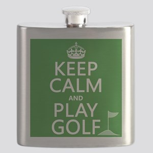 Keep Calm and Play Golf Flask
