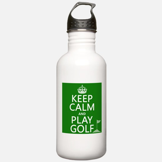 Keep Calm and Play Golf Sports Water Bottle