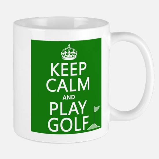 Keep Calm and Play Golf Mugs
