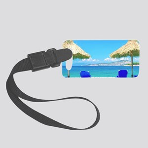 Beautiful Tropical Beach With De Small Luggage Tag
