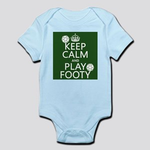 Keep Calm and Play Footy (soccer) Body Suit