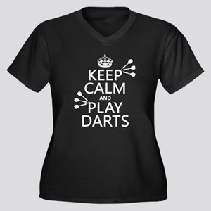 Keep Calm and Play Darts Plus Size T-Shirt