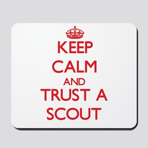 Keep Calm and Trust a Scout Mousepad