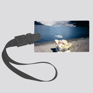 Baby's First Trip to the Glacier Large Luggage Tag