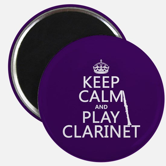 Keep Calm and Play Clarinet Magnets
