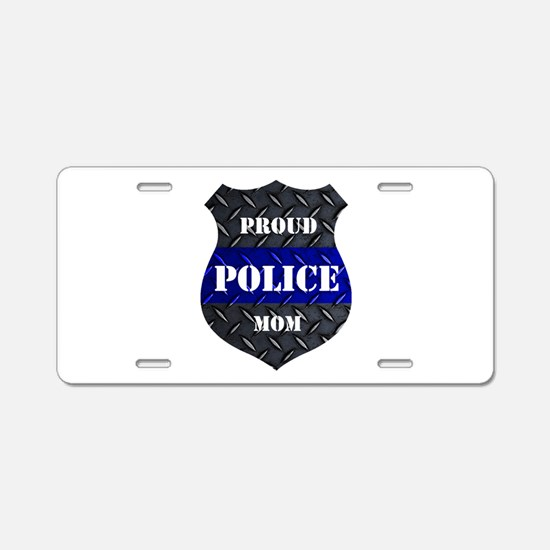 Proud Police Mom Aluminum Aluminum License Plate