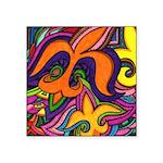 Dancing Fleur de Lis Poster Sticker