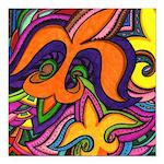 Dancing Fleur de Lis Poster Square Car Magnet 3
