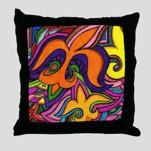 Dancing Fleur de Lis Poster Throw Pillow