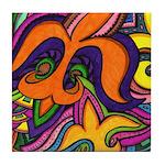 Dancing Fleur De Lis Tile Coaster