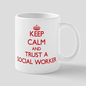 Keep Calm and Trust a Social Worker Mugs