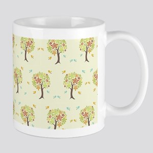 Pattern of trees and birds Mugs