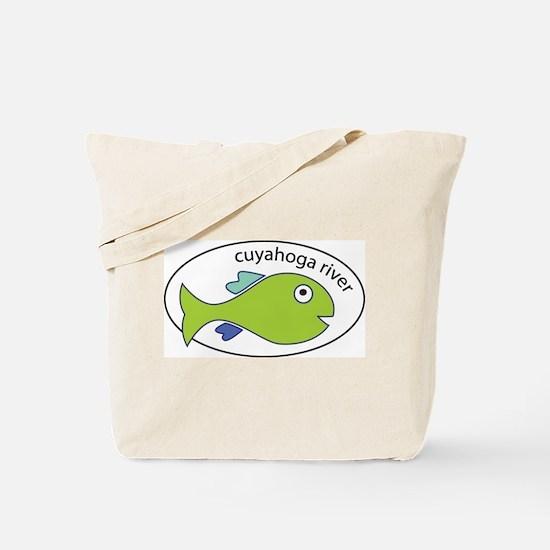 Cuyahoga River Fish Tote Bag