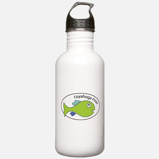Cuyahoga River Fish Water Bottle