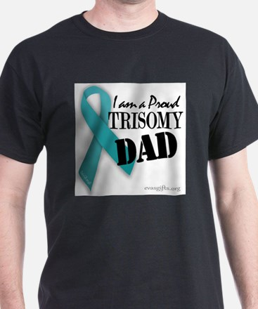 PROUD teal TRISOMY DAD T-Shirt