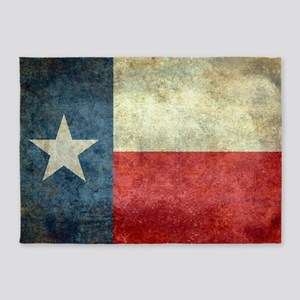 "The ""Lone Star Flag"" of Texas 5'x7'Area Rug"