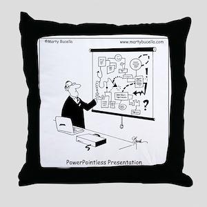 PowerPointless Throw Pillow
