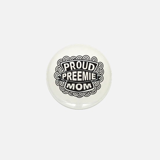 Preemie mom seal Mini Button